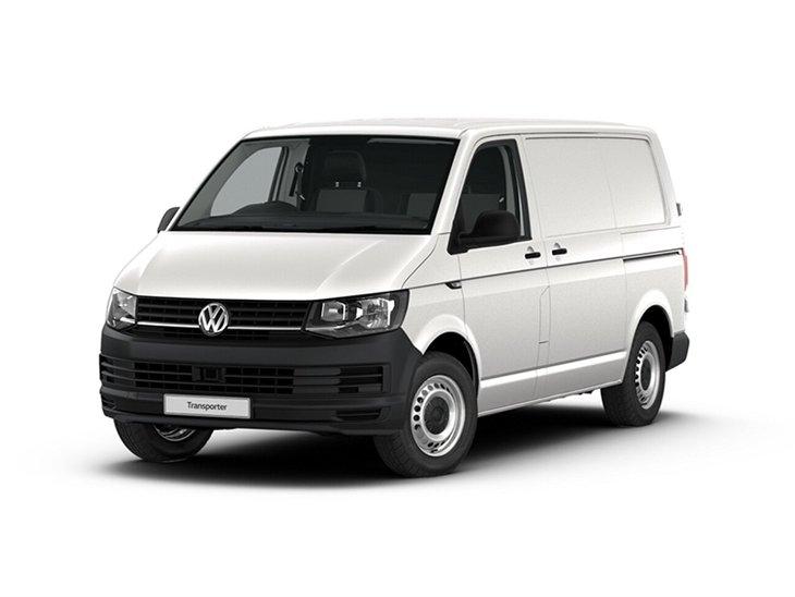 White Volkswagen Transporter